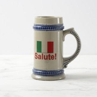 ¡Saludo italiano! (Alegrías!) Jarra De Cerveza