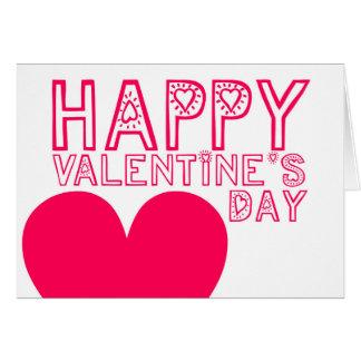 Saludo lindo y moderno del el día de San Valentín Tarjeta De Felicitación