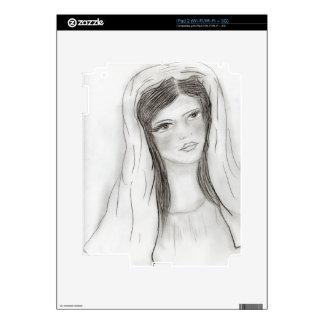 Saludo Maria Calcomanías Para El iPad 2