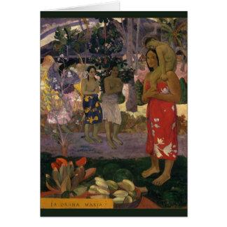 Saludo Maria de Paul Gauguin 1891 CC0456 Felicitación