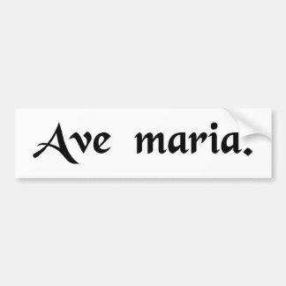 Saludo Maria Pegatina Para Auto
