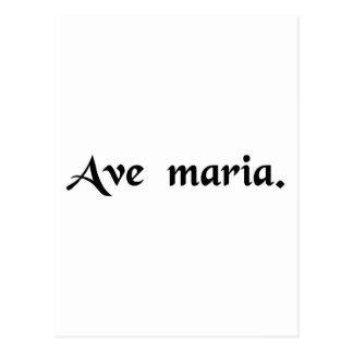 Saludo Maria Tarjeta Postal