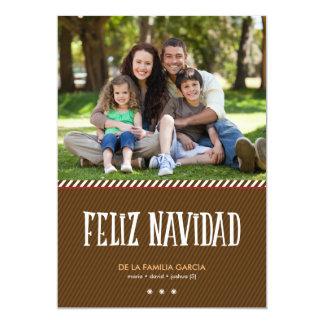 Saludo militar de la Navidad de Brown Card