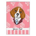 Saludo/NoteCard del beagle Tarjetón