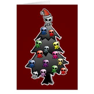 Saludo oscuro y gótico del día de fiesta tarjeta de felicitación