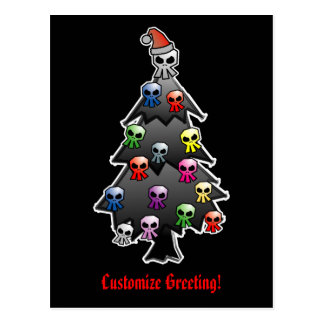 Saludo oscuro y gótico del día de fiesta tarjeta postal