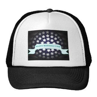 Saludo patriótico del cumpleaños gorra