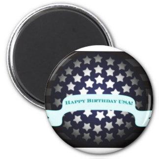 Saludo patriótico del cumpleaños imán para frigorifico