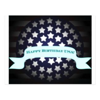 Saludo patriótico del cumpleaños postales