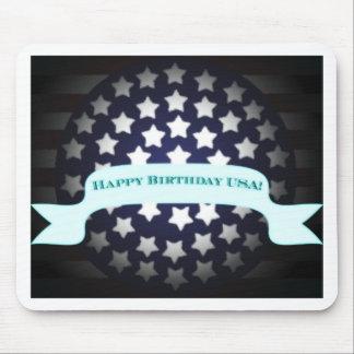 Saludo patriótico del cumpleaños alfombrilla de ratones