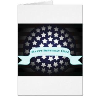 Saludo patriótico del cumpleaños tarjeta de felicitación