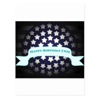 Saludo patriótico del cumpleaños tarjeta postal