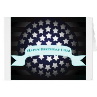 Saludo patriótico del cumpleaños tarjetas