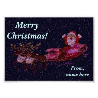 Saludo personalizado de la foto del navidad con cojinete