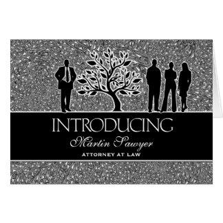 Saludo personalizado nuevo socio del negocio tarjeta de felicitación
