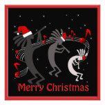 Saludo plano del navidad de Kokopelli Comunicados Personales