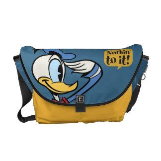 Saludo principal del pato Donald de los pantalones Bolsa De Mensajeria