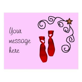 Saludo rojo del ballet postales