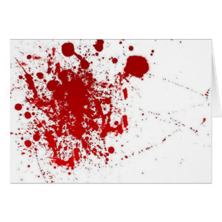 Saludo sangriento tarjeta de felicitación