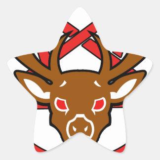 Saludo Santa Pegatina En Forma De Estrella