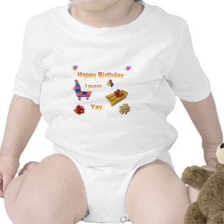 Saludo sarcástico del cumpleaños trajes de bebé