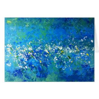 Saludo subacuático contemporáneo azul, en blanco tarjeta de felicitación