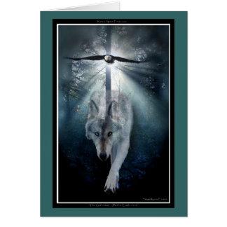 Saludo-tarjeta animal de la PAZ del lobo y del Tarjeta De Felicitación