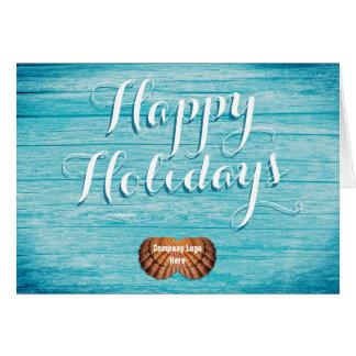 Saludo tropical del día de fiesta del negocio con tarjeta de felicitación