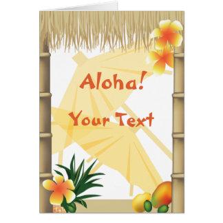 Saludo tropical hawaiano de la hawaiana del fiesta tarjetón