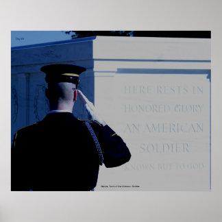 Saludo tumba del soldado desconocido impresiones