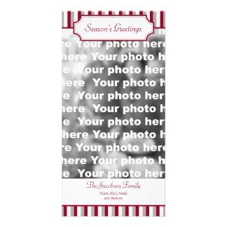 Saludo vertical del día de fiesta del navidad de l tarjetas fotográficas