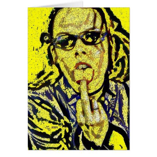 Saludo voluble del dedo tarjeta de felicitación