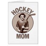 Saludo y notecards de la mamá del hockey felicitación