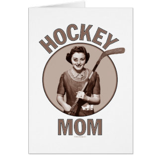 Saludo y notecards de la mamá del hockey tarjeta de felicitación