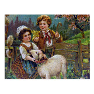 Saludos 1908 de Pascua Tarjeta Postal