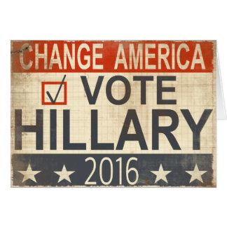Saludos 2016 de la elección de Hillary Clinton del Felicitación