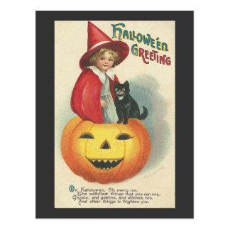 Saludos 2 de Halloween Tarjeta Postal