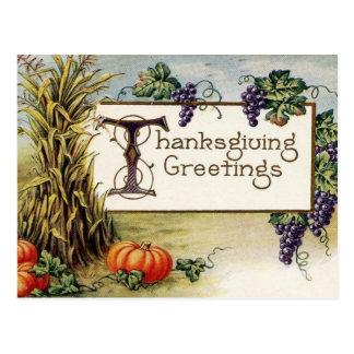 Saludos 2 de la acción de gracias tarjetas postales