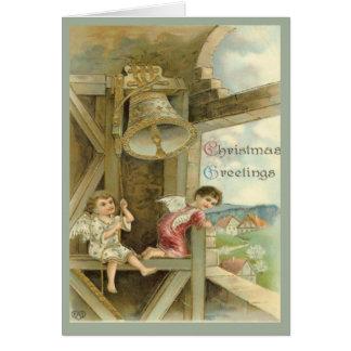 Saludos 3 del navidad tarjeta de felicitación