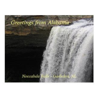 Saludos a partir de las caídas de Noccalula Tarjetas Postales