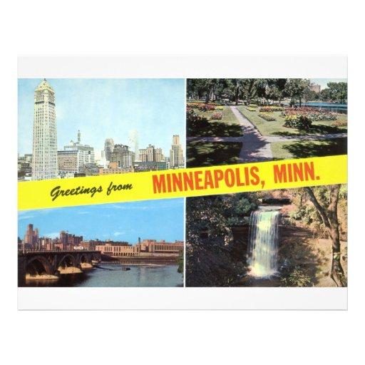 Saludos a partir de los años 50 de Minneapolis Tarjeta Publicitaria