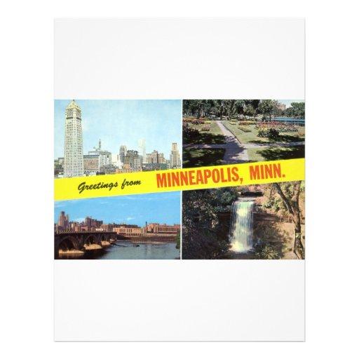 Saludos a partir de los años 50 de Minneapolis Plantillas De Membrete
