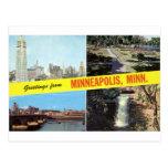 Saludos a partir de los años 50 de Minneapolis Tarjetas Postales