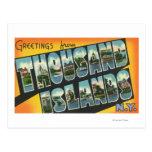 Saludos a partir de mil islas, Nueva York Tarjetas Postales