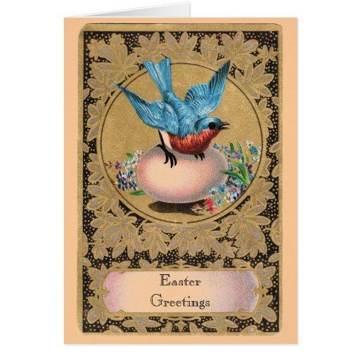 Saludos adaptables de Pascua del vintage Tarjeta