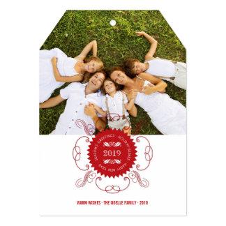 Saludos adornados del día de fiesta del sello del anuncios personalizados