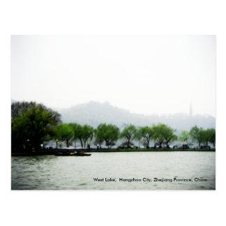 Saludos al oeste de la primavera lago China Postal