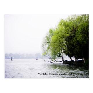 Saludos al oeste de la primavera lago China Tarjetas Postales