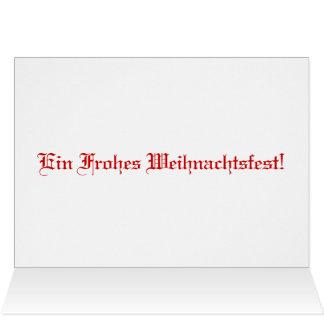 Saludos alemanes del navidad con letras del tarjeta de felicitación
