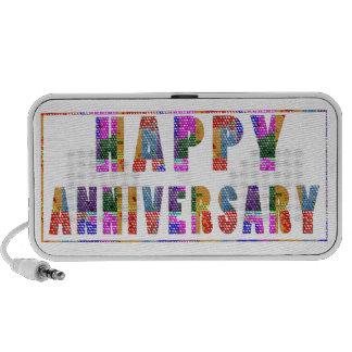 Saludos Aniversario feliz de HappyANNIVERSARY Notebook Altavoces